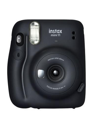 Instax Instax Mini 11 Siyah Fotoğraf Makinesi Ve Jean Çantalı Hediye Seti 3 Siyah
